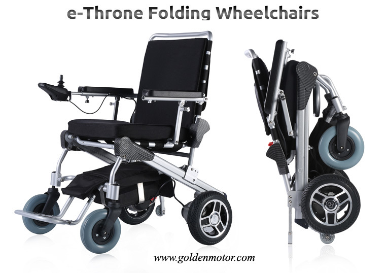E throne new arrival light weight 1 second folding for Lightweight motorized folding wheelchair