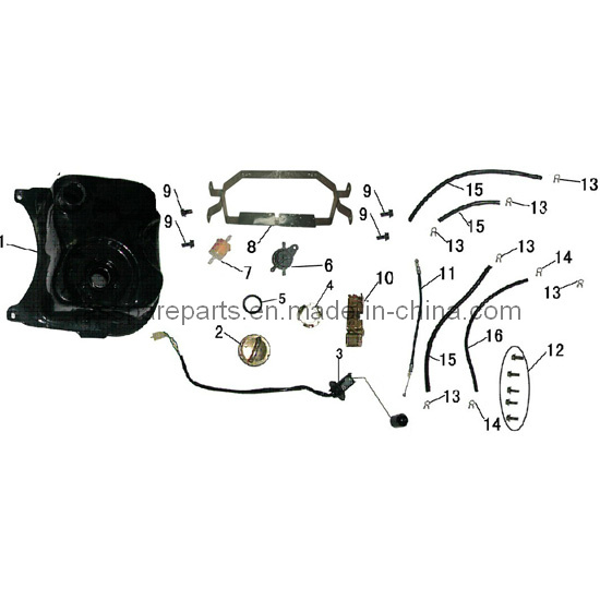 High Quality Plastic Motorcycle Fuel Tank for Scooter (SC021)