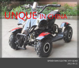 Unqie Design 500W Electric ATV Quad, Kids Electric Scooter