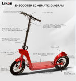 CE and RoHS Approved Electric Vehicle Scooter with 48V 500W 45km/H Speed, The Better Transportation Tool for City Shuttling, Jiexg Mini Scooter.