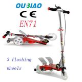 Oubiao Papa Run Scooter Kids Pedal Kick Scooter with 3 Flashing Wheel