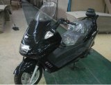 150cc Black Gas Moped Scooter with Wind Shield