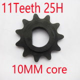 Electric Scooter 11 Tooth Sprocket Motor Engine Parts Motor Pinion Gear My1016 Fits Standard 25h Bicycle Chain