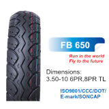 ISO Motorcycle Parts Scooter Tyre 3.50-10