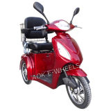 500W-800W Disabled 3 Wheel Mobility Scooter with Deluxed Seat and Basket