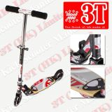 145mm PU Wheel Wooden Deck Suspension Adult Kick Scooter