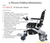 2015 New Design 8'' 10'' 12'' Brushless Wheelchair with Lithium Battery